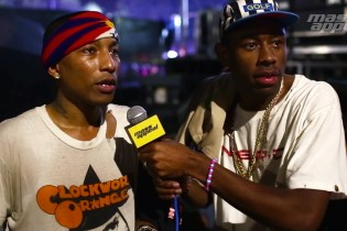 Watch Tyler, the Creator Interview Pharrell at Camp Flog Gnaw 2014