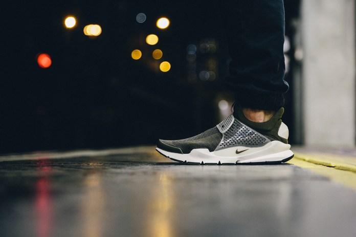"A Closer Look at the fragment design x Nike Sock Dart ""Dark Loden"""