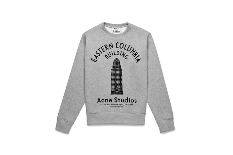 Acne Studios Celebrates Its One-Year West Coast Anniversary with Art Deco-Inspired Sweatshirts