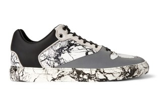 Balenciaga Suede-Trimmed Marbled Leather and Rubber Sneakers