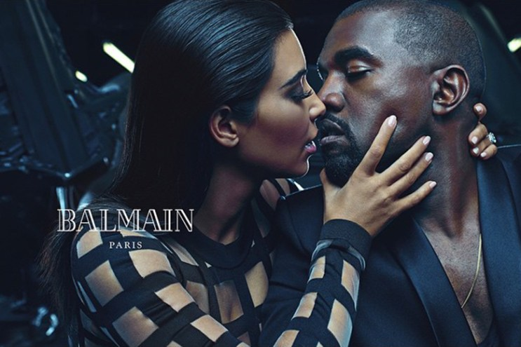 Kanye West and Kim Kardashian Featured in Balmain's 2015 Spring/Summer Campaign