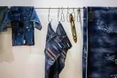"CLOT x DENIM BY VANQUISH & FRAGMENT ""RGB Pattern"" Washed Jeans"
