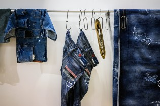"CLOT x DENIM BY VANQUISH & FRAGMENT ""RGB Pattern"" Washed Jeans"