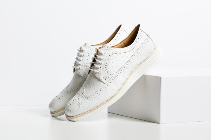 Cole Haan Lunargrand Long Wingtip Ostrich Pack