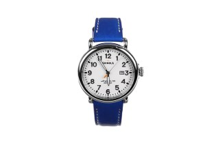 colette x Shinola Limited Edition Custom Blue Runwell Watch