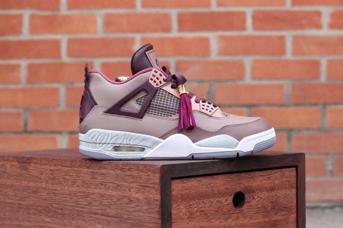 "Dank Customs Air Jordan 4 ""Louis Vuitton Don"" by Wale"