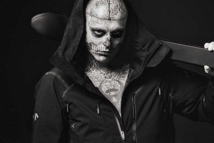 "Descente 2014 Fall/Winter ""The Masterpiece"" Down Jacket featuring Rick Genest"