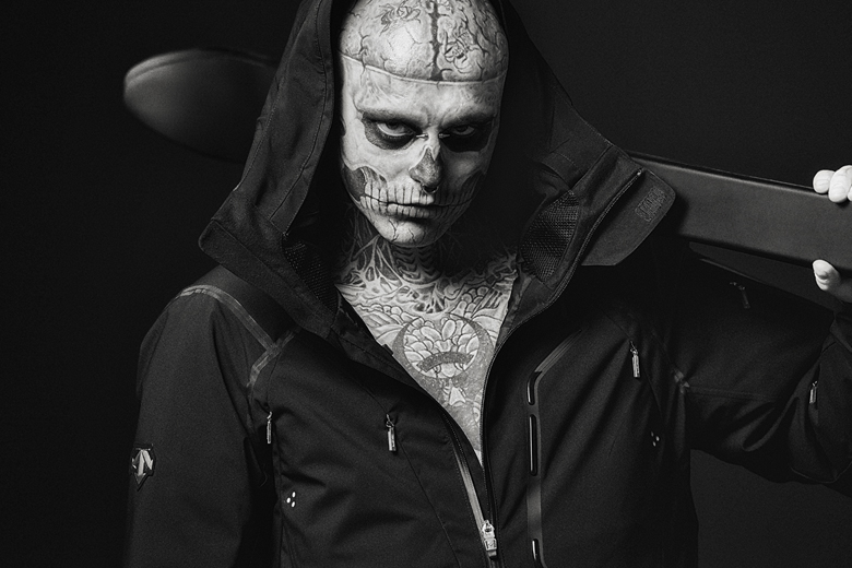 """Descente 2014 Fall/Winter """"The Masterpiece"""" Down Jacket featuring Rick Genest"""