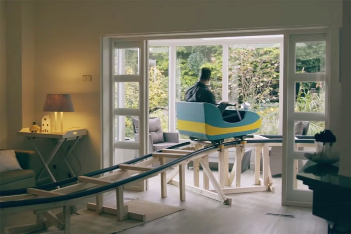 Real Estate Company Creates Rollercoaster Ride Through Home For Sale