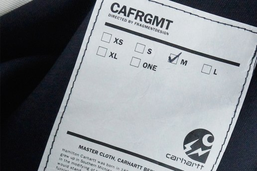 "fragment design & Carhartt WIP Tease Their 2014 Fall/Winter ""CAFRGMT"" Collaboration"