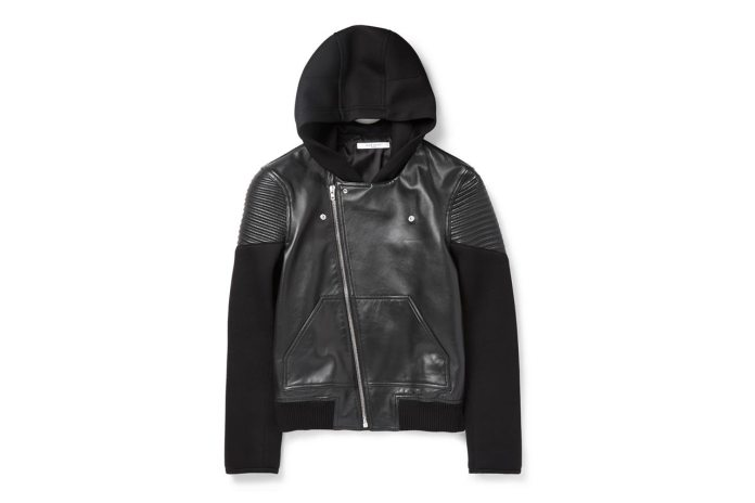 Givenchy Leather and Neoprene Hoodie