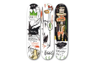 The Estate of Jean-Michel Basquiat Releases a Collection of Skatedecks with The Skateroom