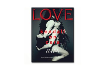 Kendall Jenner and Cara Delevingne Cover LOVE Magazine
