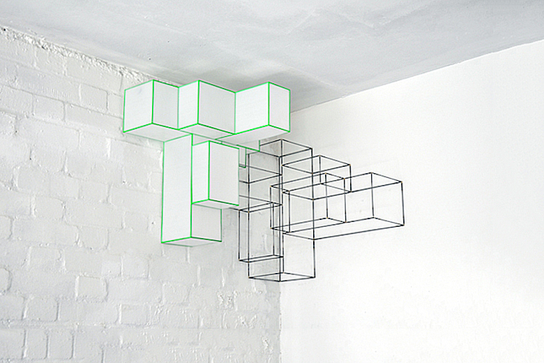 """Marc Trotereau """"The Basura Project"""" Wireshade Lamp"""