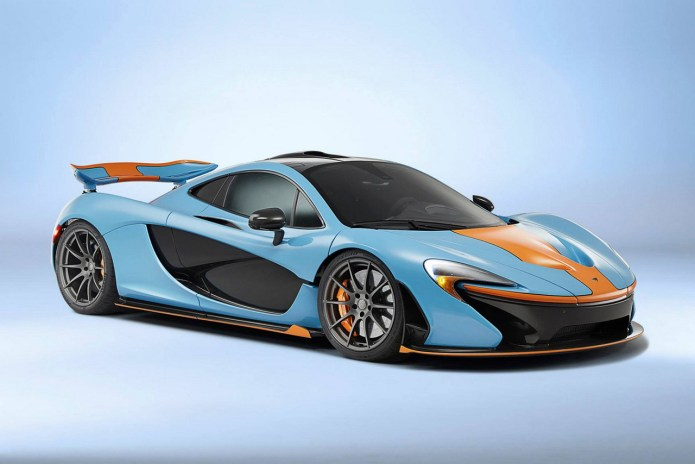 McLaren P1 in Gulf Oil Racing Color Scheme