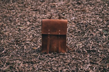 """MIFLAND Deluxe Leather Rucksack """"Luggage Brown"""""""