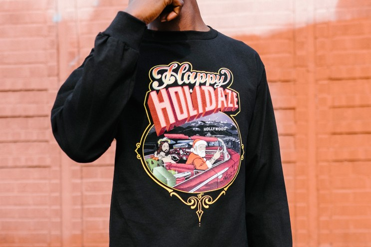 "Mister Cartoon x Undefeated ""HOLIDAY HOMIES PT. II"" T-Shirt"