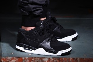 "Nike Air Flight '89 ""Black Reptile"" Black/White-Cool Grey"