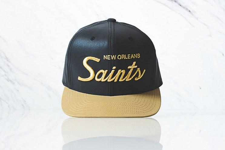 "Sneaker Politics x Mitchell & Ness New Orleans Saints 3M Reflective Snapback ""Black"""