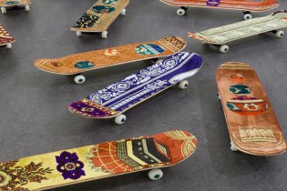 Skateboards Fitted with Prayer Rugs by Mounir Fatmi at Miami UNTITLED Art Fair