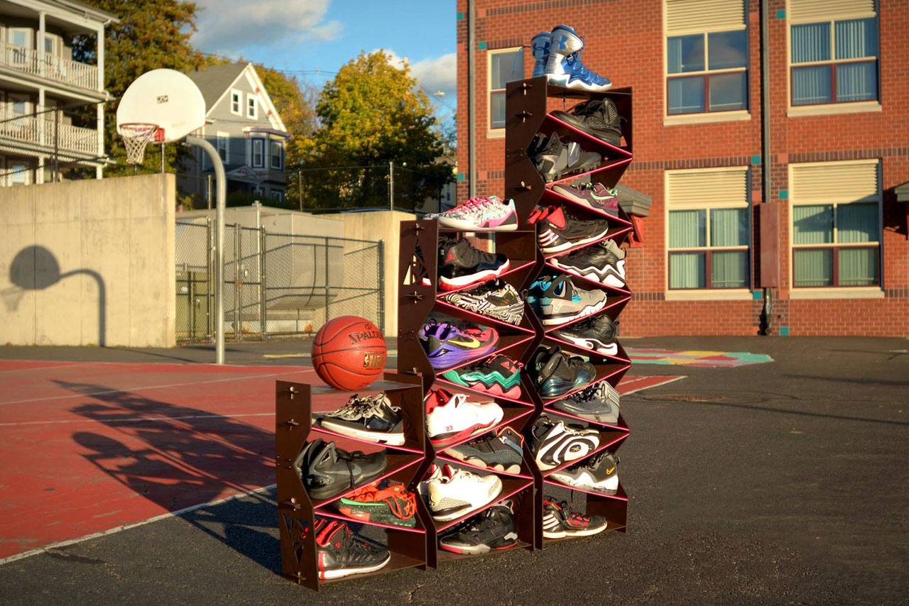 Sole Stacks: The Sneaker Shelving