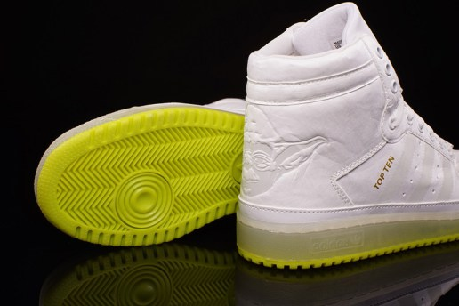 "A First Look at the Star Wars x adidas Originals Kid's Top Ten Hi ""Yoda"""