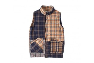 visvim 2014 Winter INSULATOR DOWN VEST P.W. (WOOL)