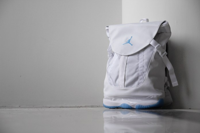 "A Closer Look at the Jordan XI Premium Shoe Bag ""Legend Blue"""