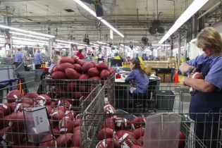 A Look inside the Wilson Football Factory with The New York Times