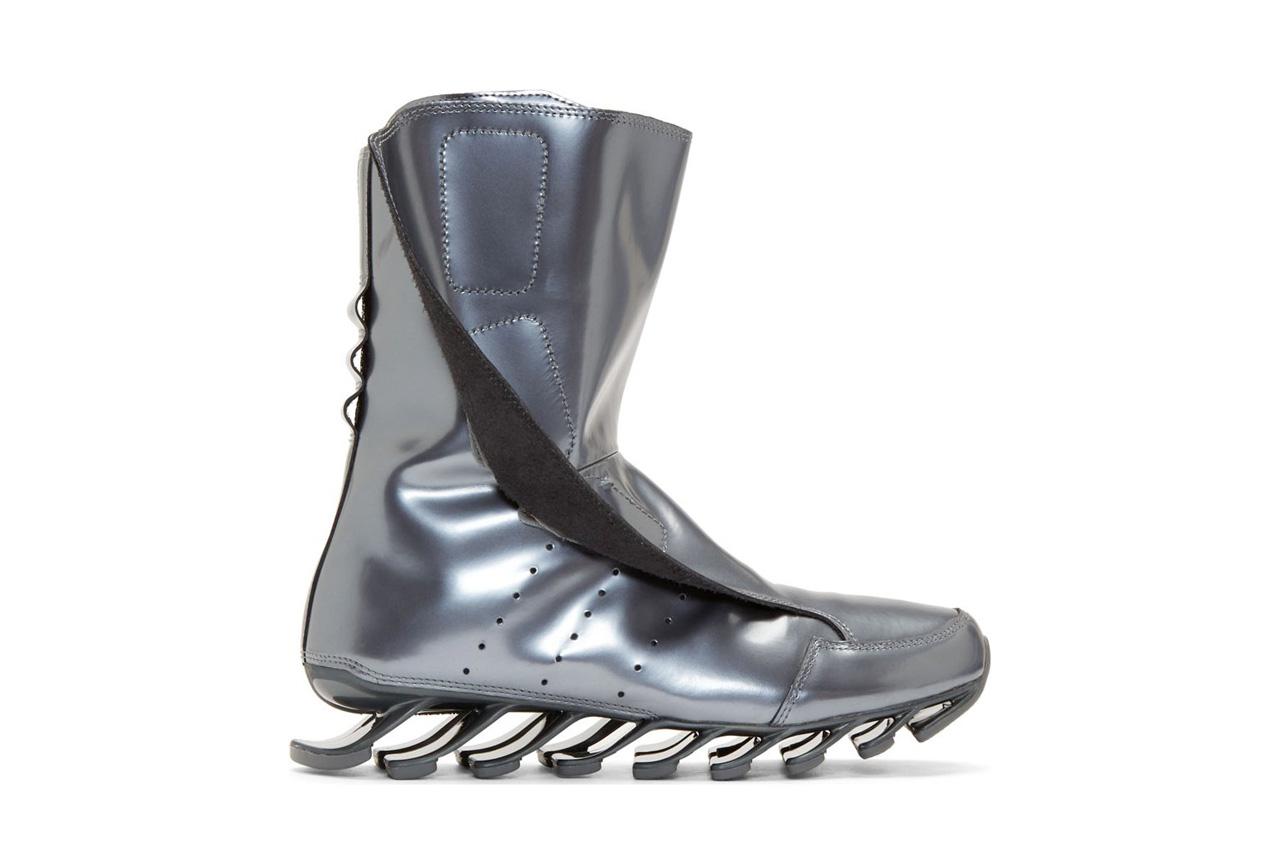 adidas by Rick Owens Gunmetal Edition Springblade High Boots