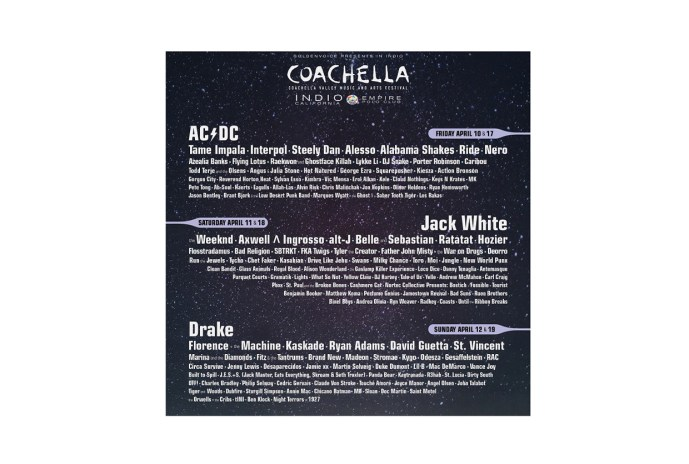 Coachella 2015 Will Be Headlined by AC/DC, Jack White & Drake