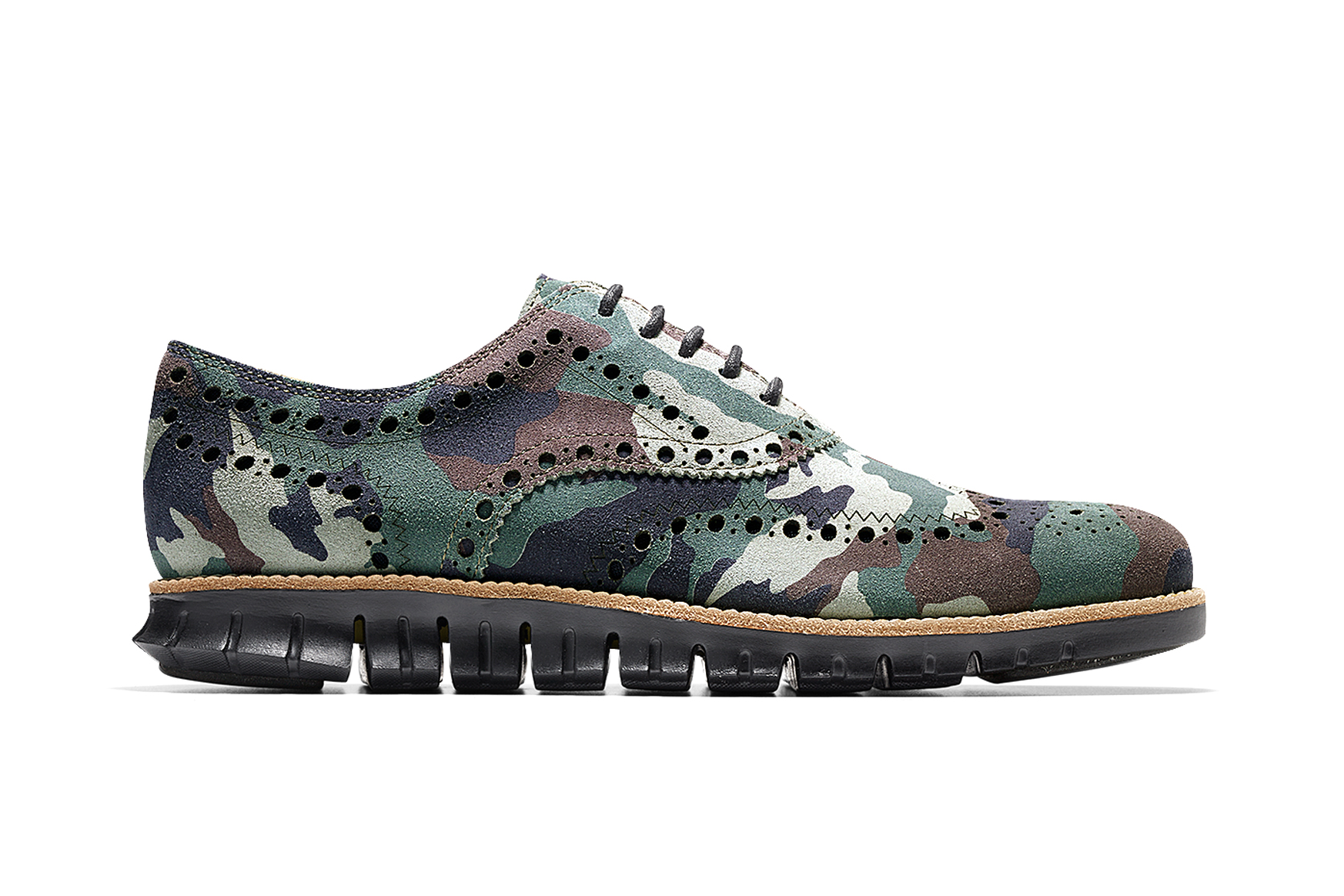 """Cole Haan ZeroGrand Wing Oxford """"Forest Camo"""""""