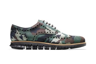 "Cole Haan ZeroGrand Wing Oxford ""Forest Camo"""