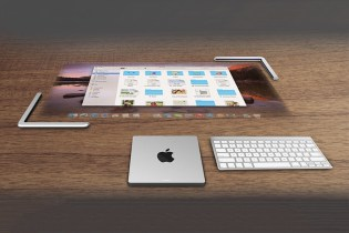 Desktop Touchscreen Visualized in Apple Lightmac Concept