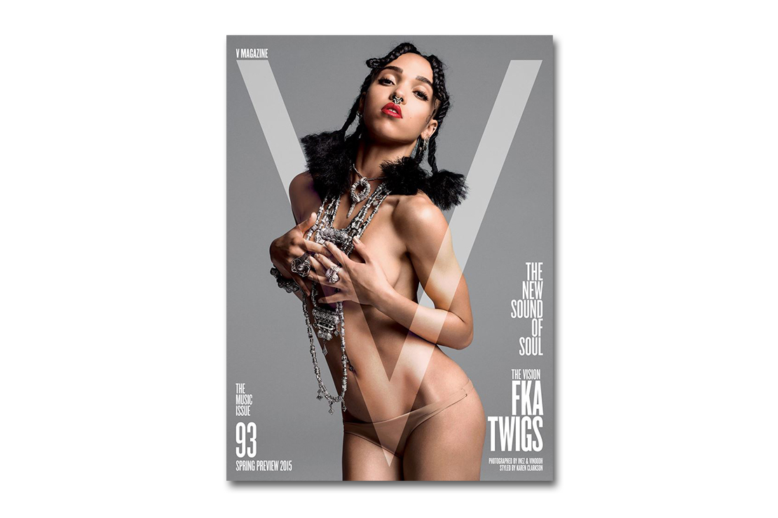 FKA twigs Poses Topless for V Magazine