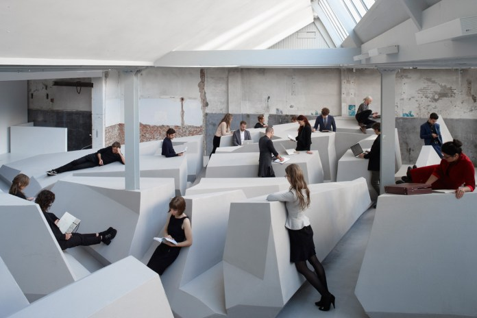 Futuristic Office Concept in Amsterdam Doesn't Have Chairs or Desks