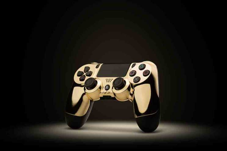 Gilded Gaming: 24-Karat Gold Gaming Controllers by Colorware