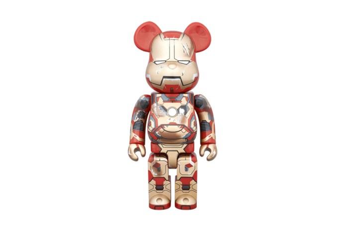 "Marvel x Medicom Toy Iron Man MARK XLII 400% and 100% Bearbrick ""Final Attack"""