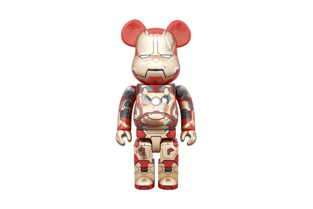 "Marvel x Medicom Toy Iron Man MARK XLII 400% and 100% Bearbrick ""Final Attack"""