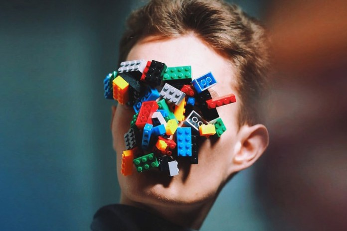 Isamaya Ffrench Creates LEGO Masks for Agi & Sam's 2015 Fall/Winter Collection