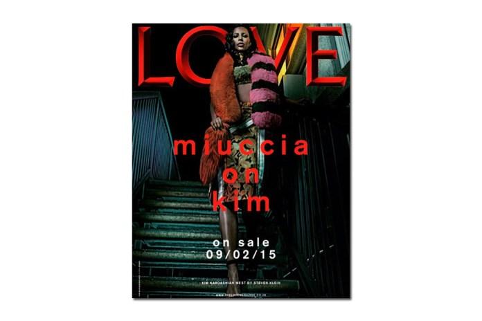 Kim Kardashian Bleaches Eyebrows for the Cover of LOVE Magazine