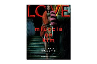 Kim Kardashian Bleaches Eyebrows for the Cover of LOVE Magazine