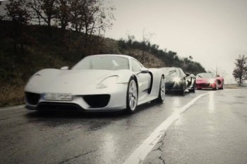 LaFerrari vs. Porsche 918 vs. McLaren P1 for Top Gear