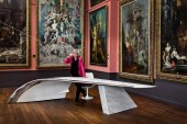 Les Ateliers FLOWN Constructs the Cantilevers Desk from the Wing of a Boeing 737