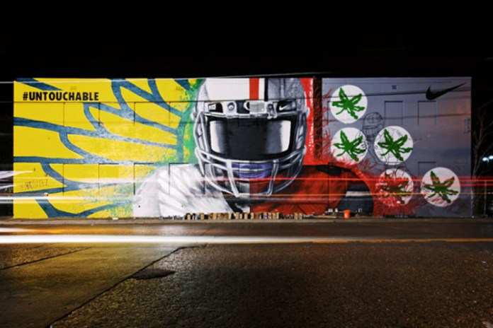Nike x Madsteez '#Untouchable' Mural For Dallas College Football Championship
