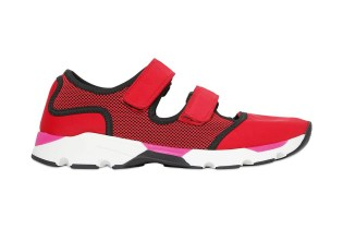 Marni Cotton & Light Nylon Running Sneakers