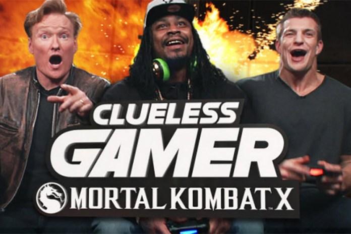 Marshawn Lynch & Rob Gronkowski Play 'Mortal Kombat X' with Conan O'Brien