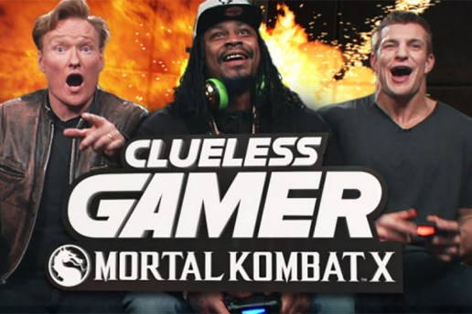 Marshawn Lynch & Rob Gronkowski Play 'Mortal Kombat X' with Conan O'Brien