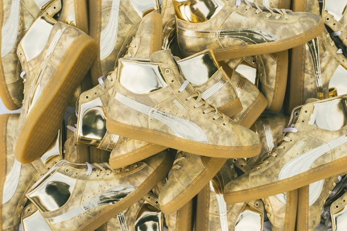 "Meek Mill x PUMA Suede ""24K White Gold"" Pack"