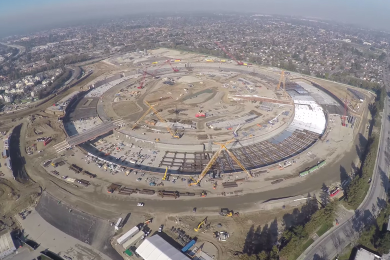 New Drone Footage of Apple's Massive Headquarters